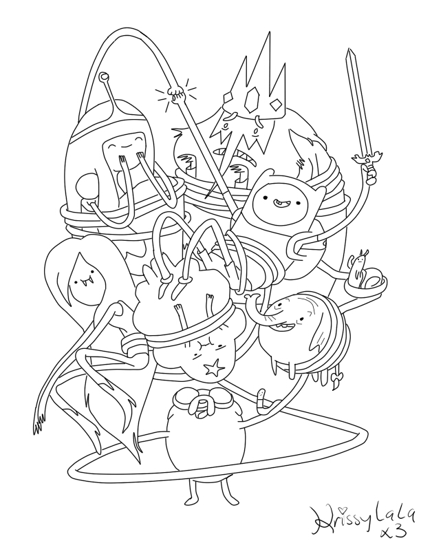 coloring pages of adventure time - photo#6