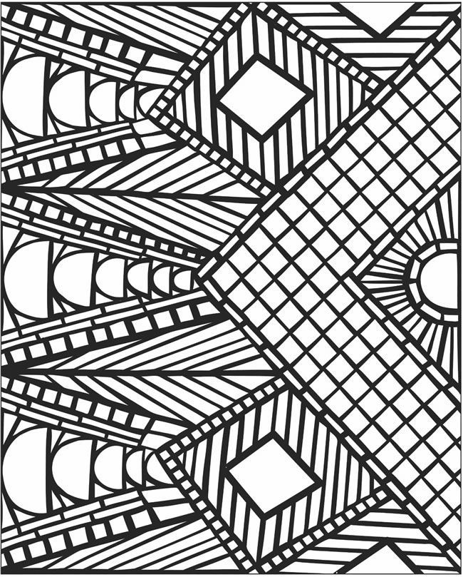 Mosaic coloring pages free coloring home for Graphic design coloring pages
