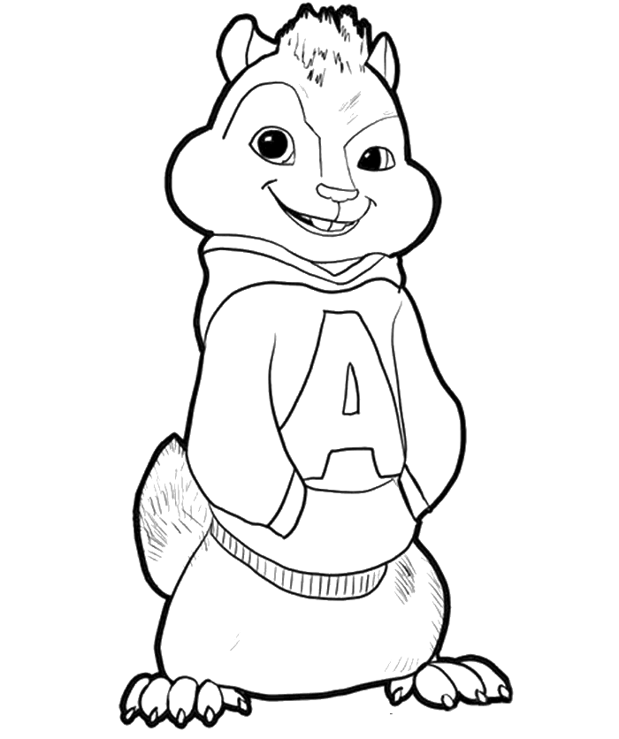 chipmunks coloring pages printable - photo#10