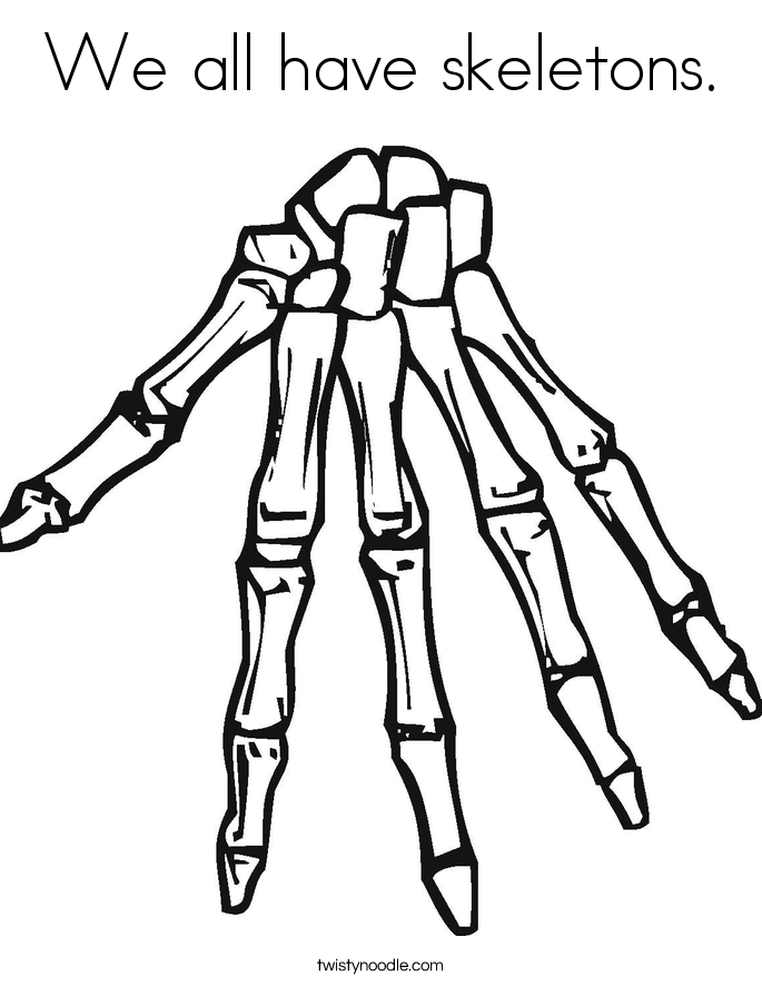 Free skeleton coloring pages az coloring pages for Skeleton coloring pages