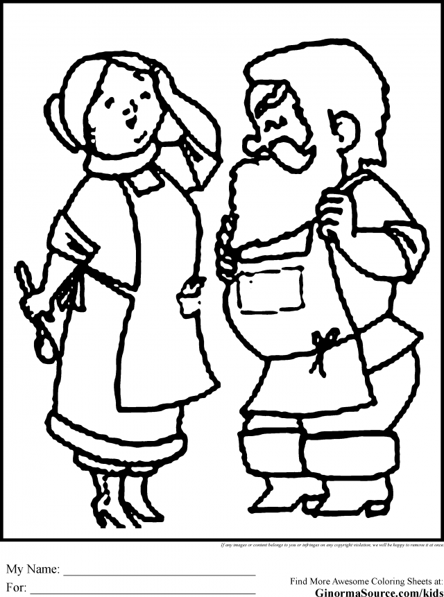 Mrs Claus Coloring Pages - Coloring Home