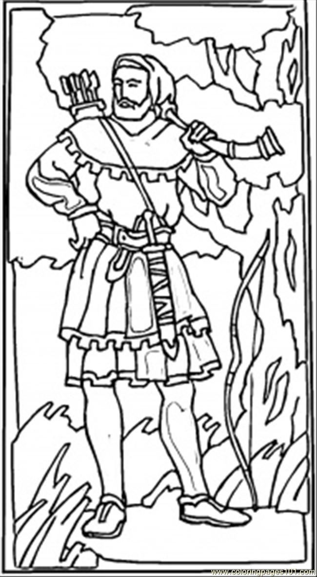 Robin Hood Coloring Page - Coloring Home