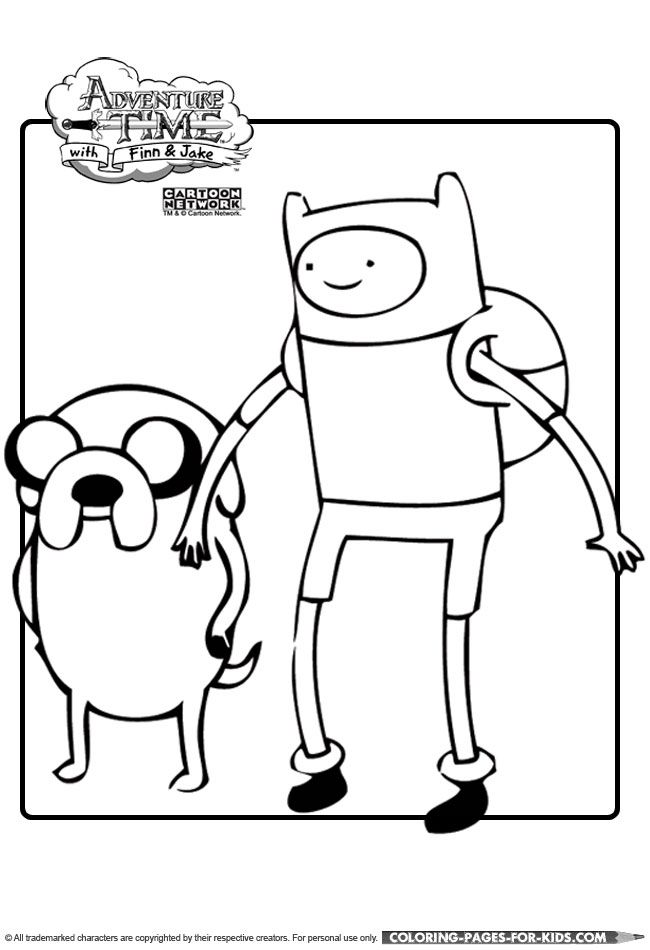 Finn And Jake Adventuretime Coloring Page