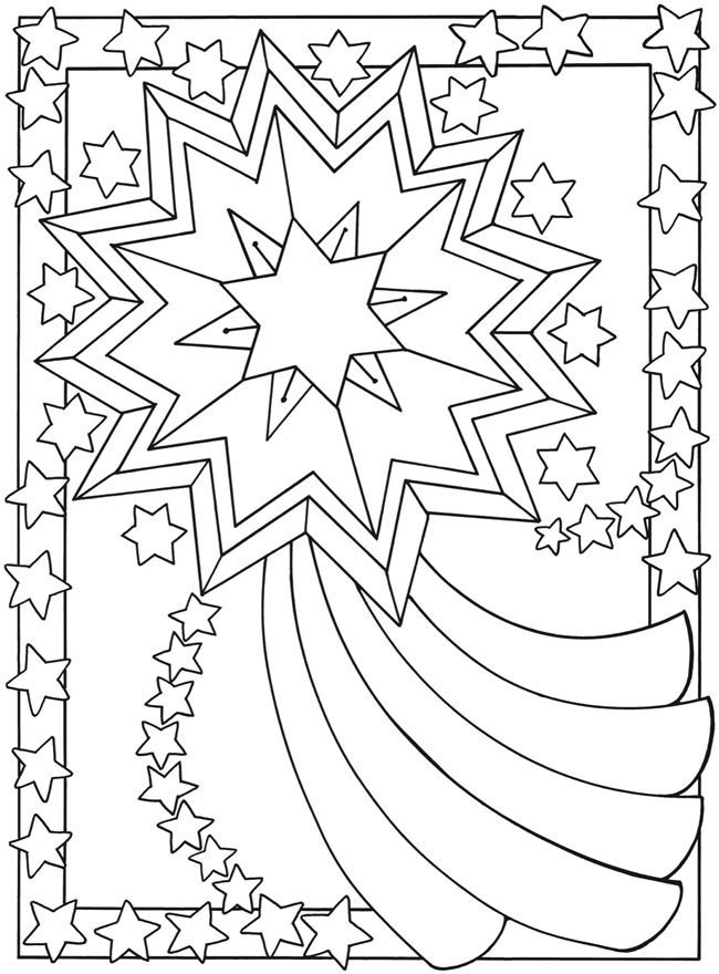 coloring pages shooting star - photo#12