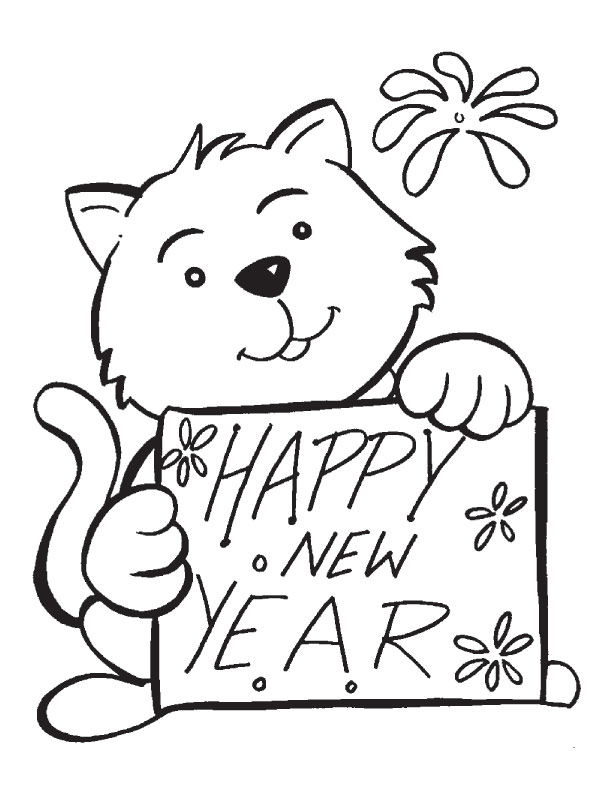 Free Printable Coloring Pages New Years Day : New Years Day Coloring Pages AZ Coloring Pages