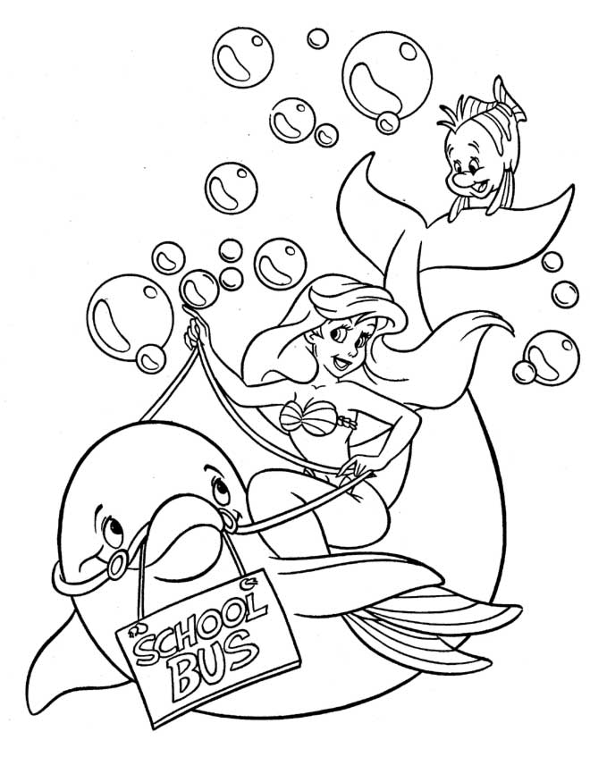 Ariel Flounder Coloring Pages : Ariel and flounder coloring pages home