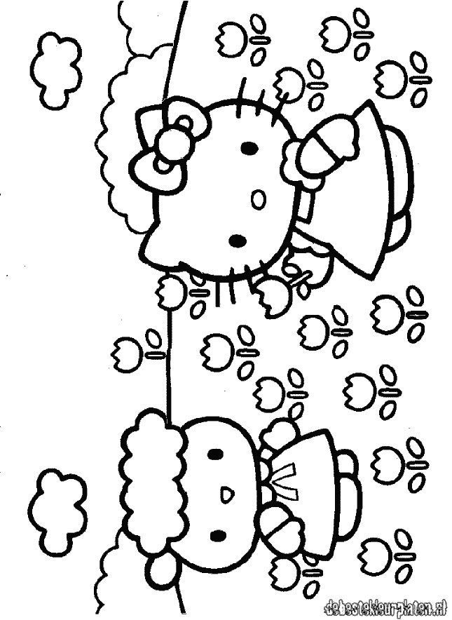 hello kitty wallpaper Colouring Pages (page 2)