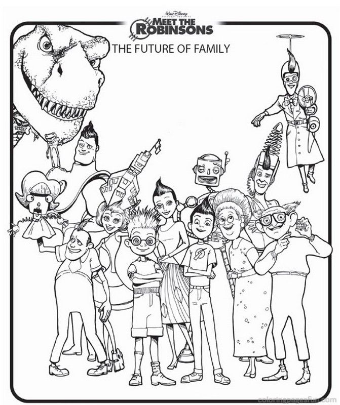 Meet The Robinsons Coloring Home Meet The Robinsons Coloring Pages