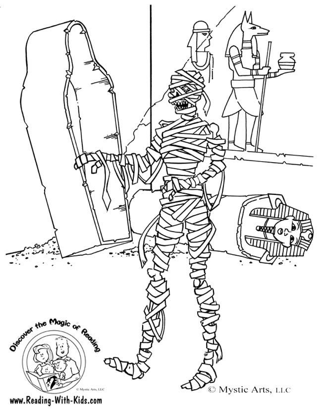 mummies from egypt Colouring Pages