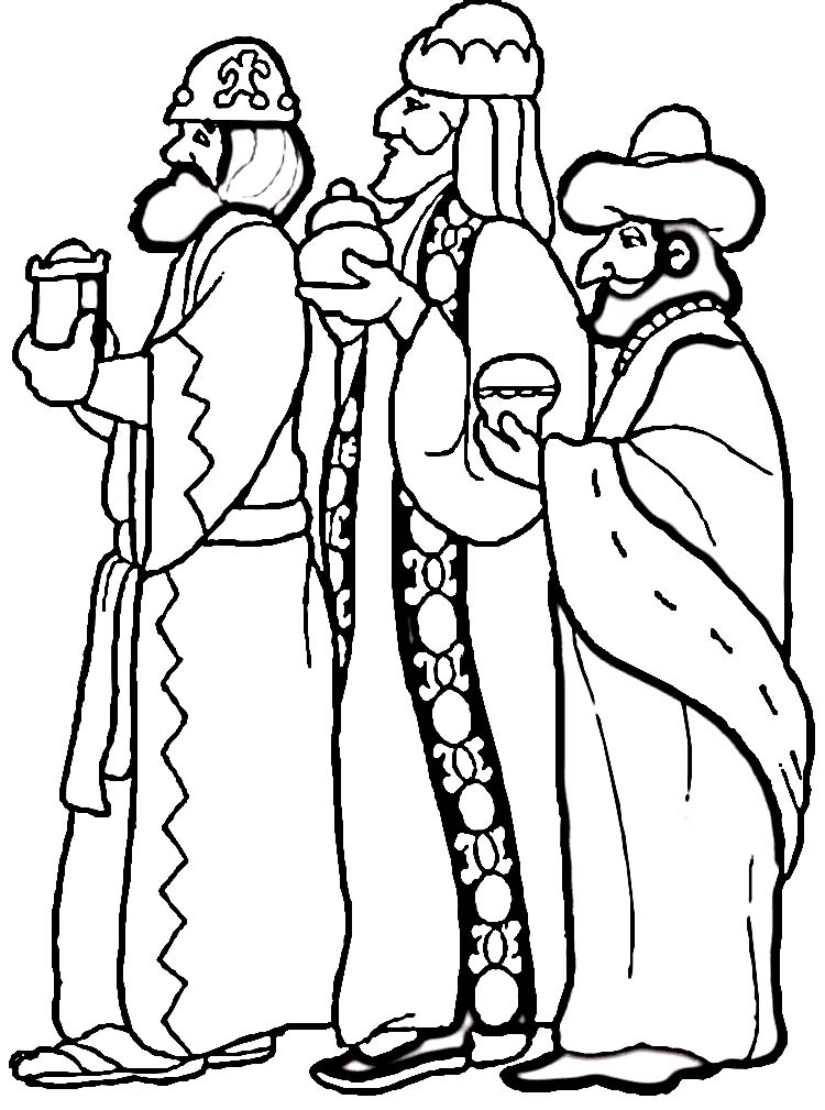 3 wisemen Colouring Pages