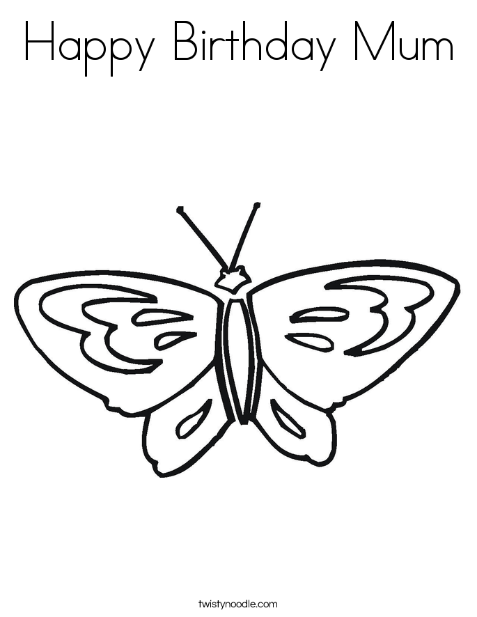 Happy Birthday Mom Coloring Pages For