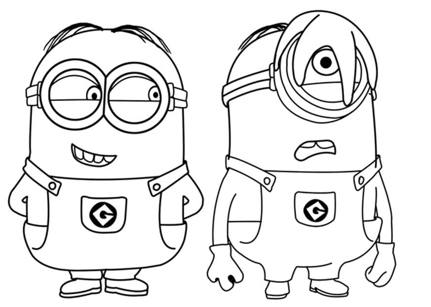 despicable me tim stuart and jerry coloring for kids tim boy