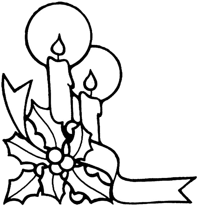 Christmas Candles Drawing Christmas Candles Coloring