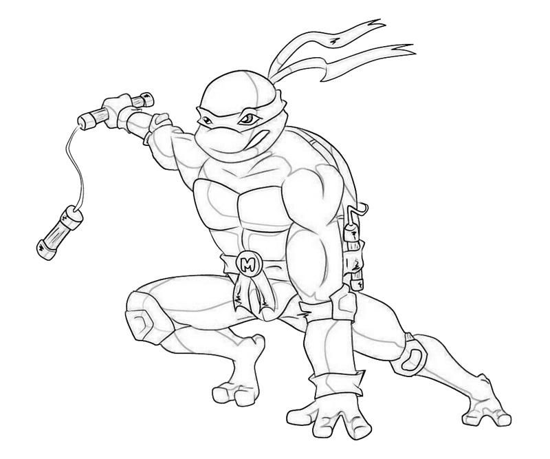 tmnt 2003 michelangelo coloring pages - photo#24