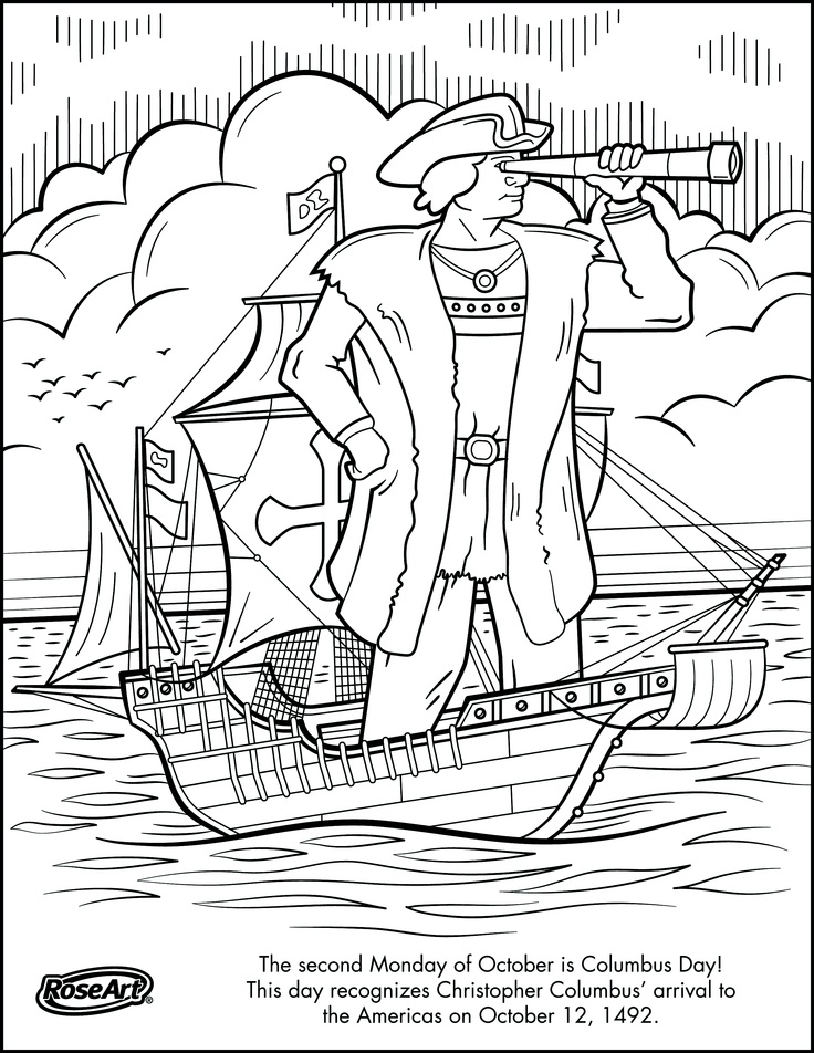 columbus day projects coloring pages - photo#5