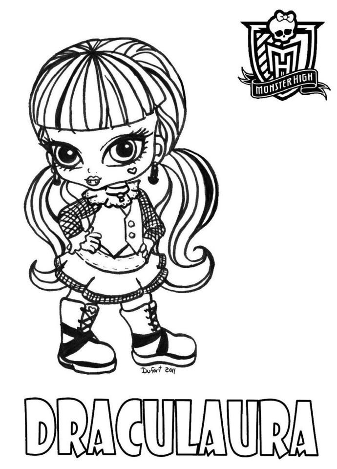 How to dress like draculaura coloring