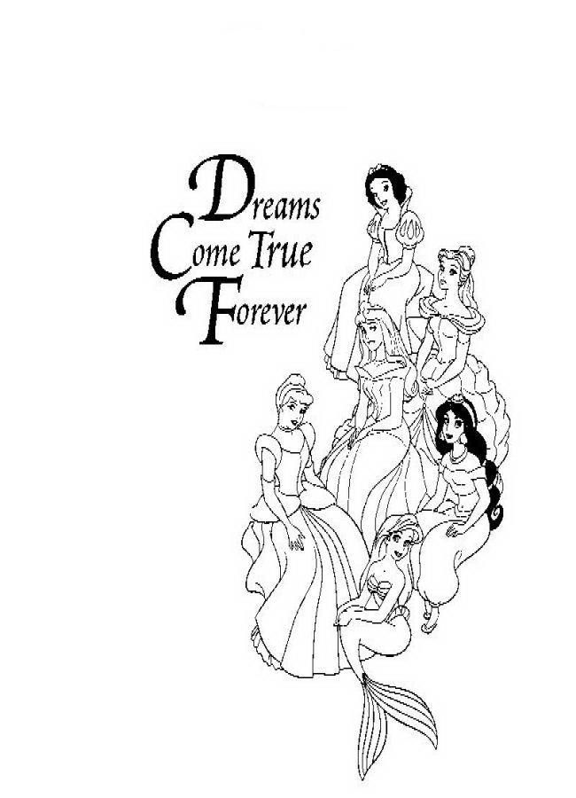 Coloring Pages All Disney Princess : All disney princess coloring pages home