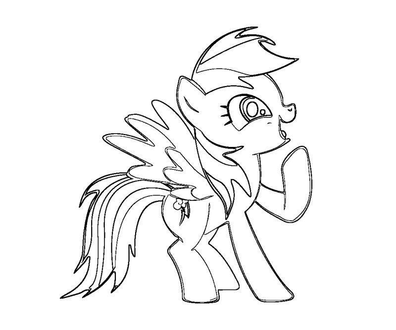 3 Rainbow Dash Coloring Page