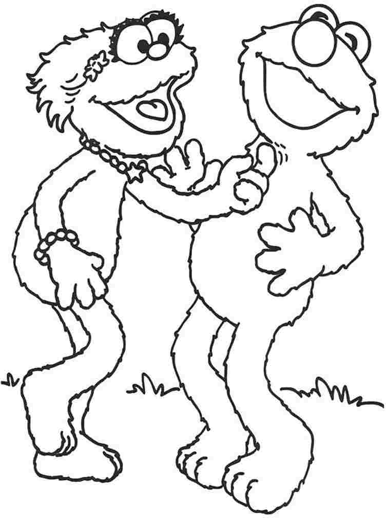zoe sesame street coloring pages - photo#10