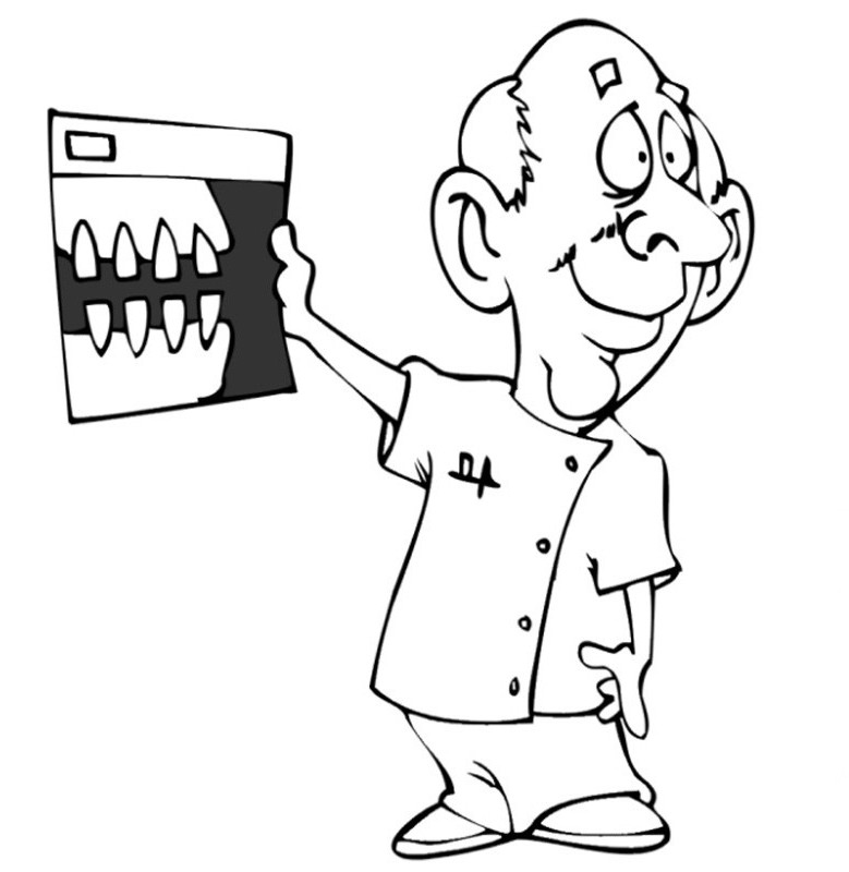 coloring pages of dental hygienists - photo#21