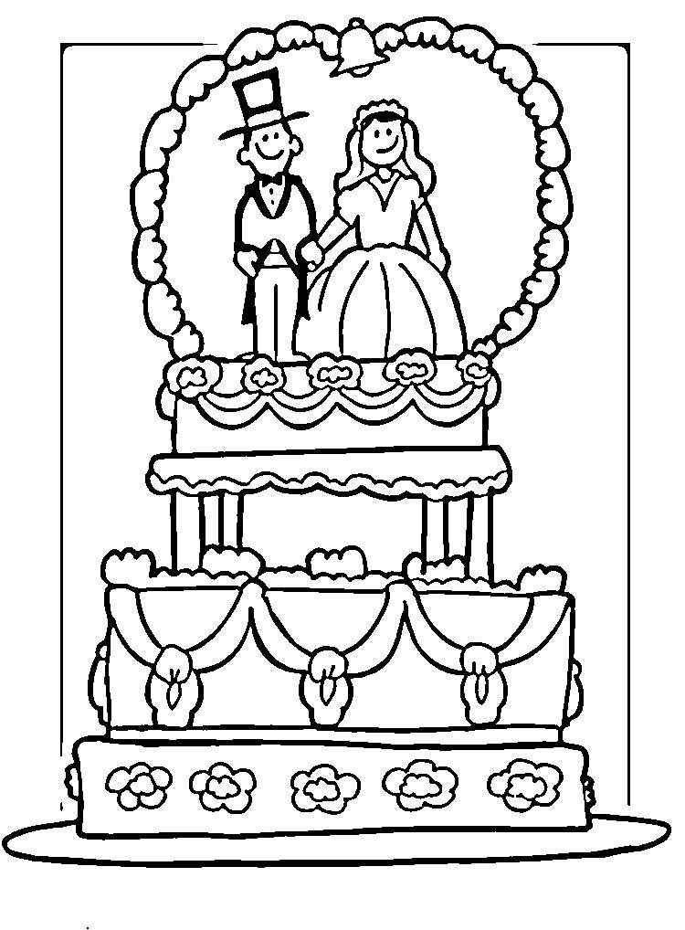 Wedding Cake Coloring Pages Az Coloring Pages Wedding Coloring Pages To Print