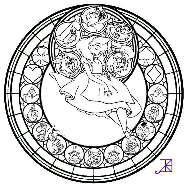 online stained glass coloring pages - photo#19