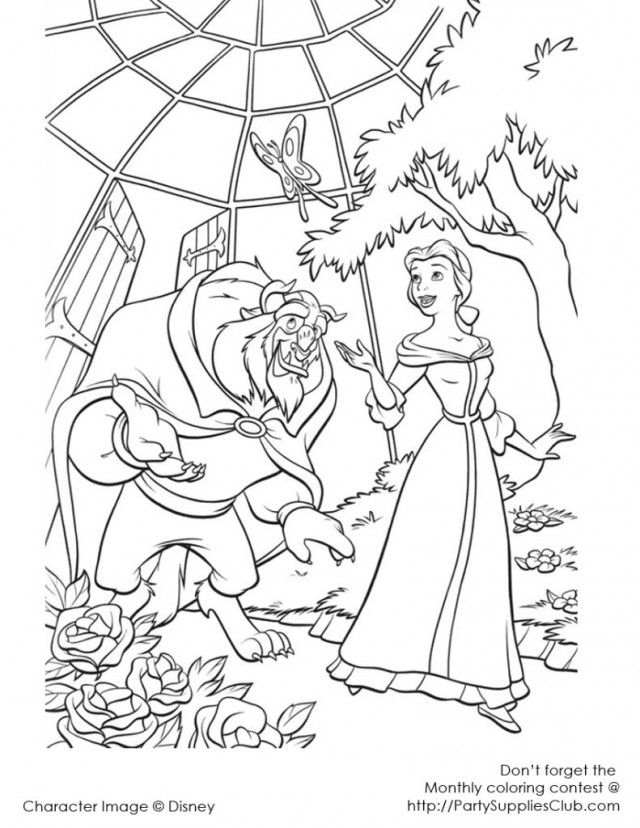 Beauty And The Beast Coloring Pages 7 Jpg Photo By Slpmd