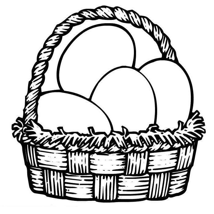 Basket Coloring Page And Easter Basket Coloring