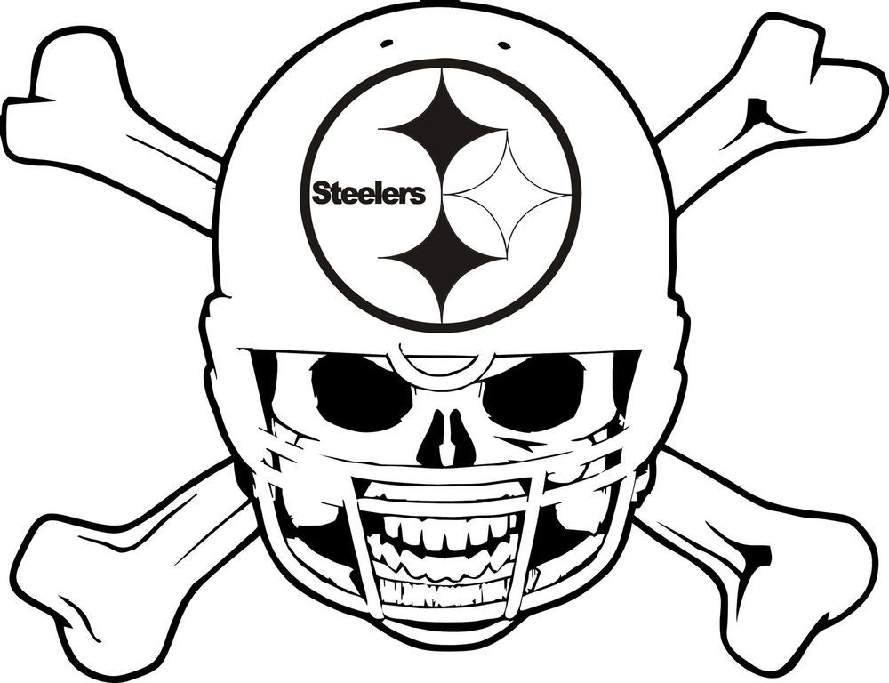 Football Coloring Pages Steelers
