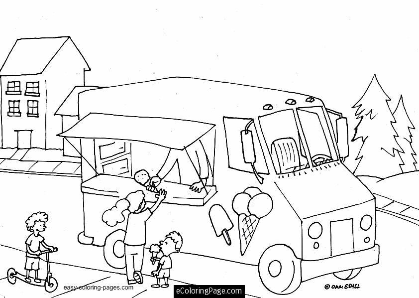 ice cream store coloring pages-#16