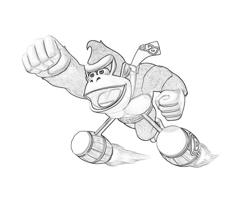 Diddy kong coloring pages coloring home - Coloriage donkey kong ...
