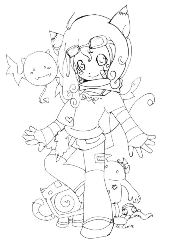 Line Art Food : Kawaii anime food coloring pages
