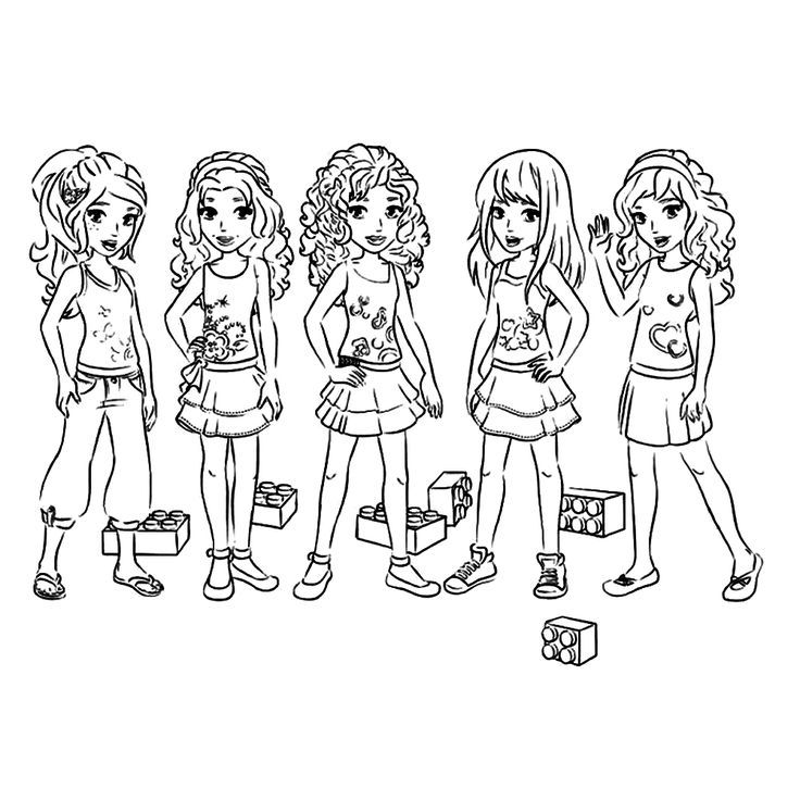 Printable Coloring Pages Lego Friends : Lego Friends Coloring Pages Coloring Home
