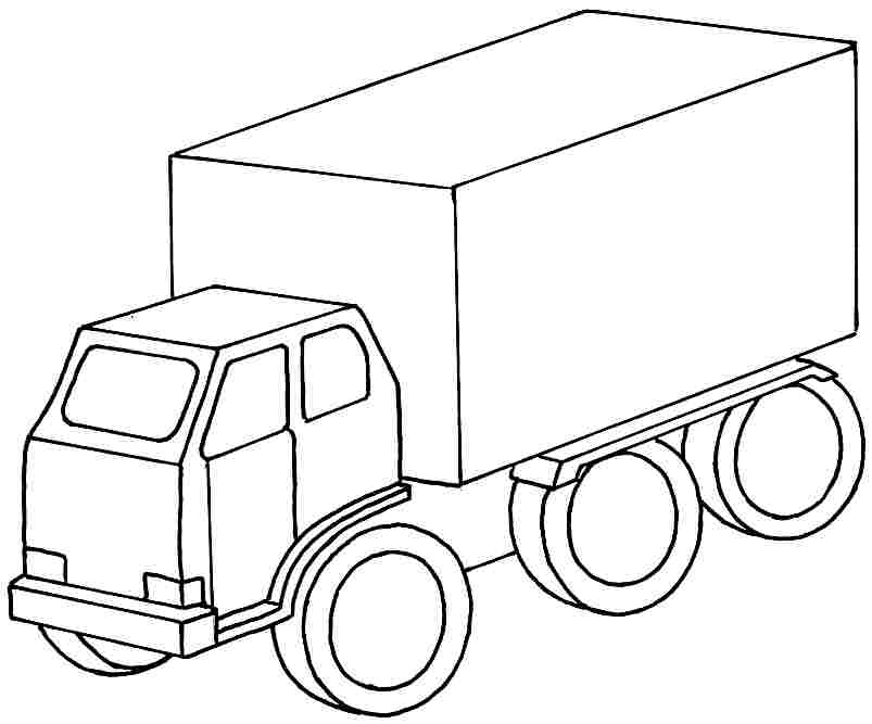 Colouring Pages Transportation Truck Car Printable Free For Kids
