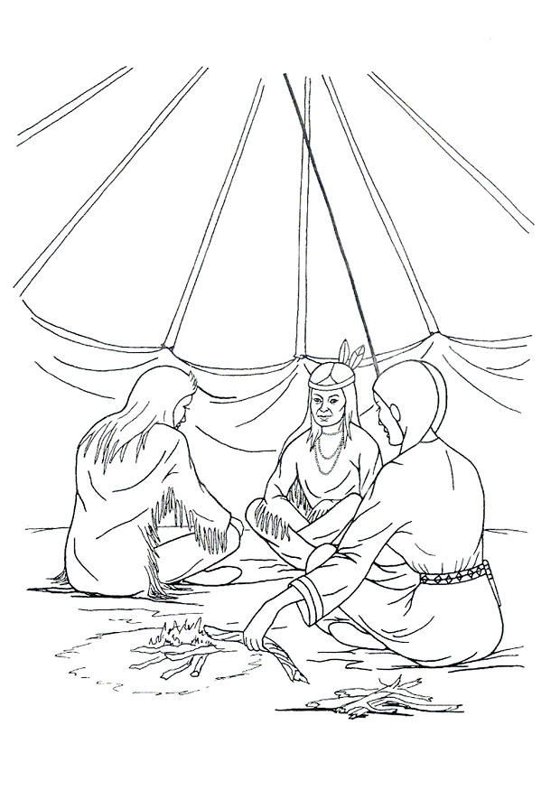 kids teepee coloring pages - photo#21
