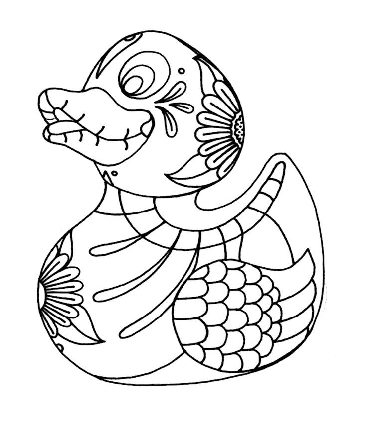 Rubber Ducky Coloring Page - Coloring Home