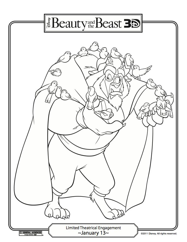 Fun Stuff: Disney's Beauty and the Beast Coloring Pages! | Carrie