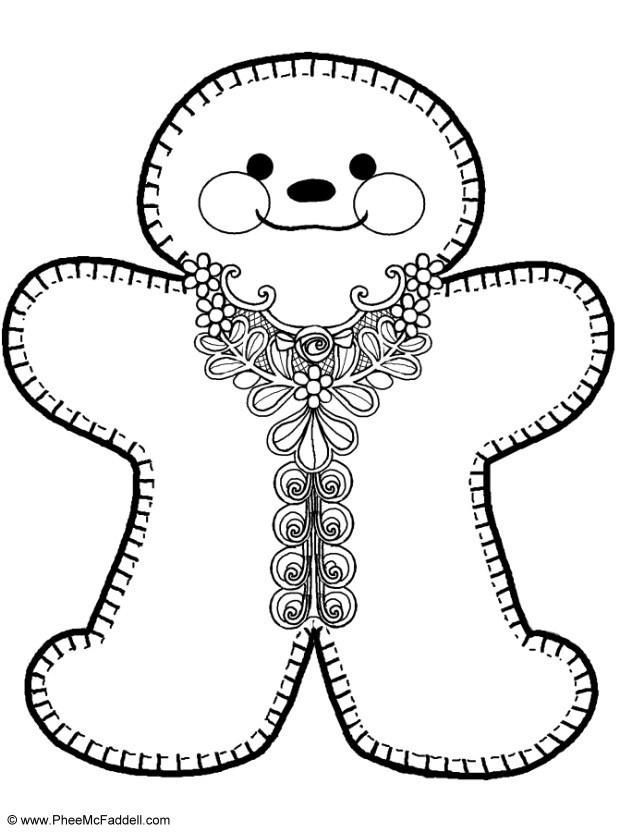Gingerbread Man Coloring Page Printable Book Sheet Candyland