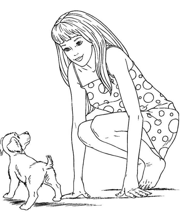 Vintage Barbie Coloring Book Pages Coloring Pages