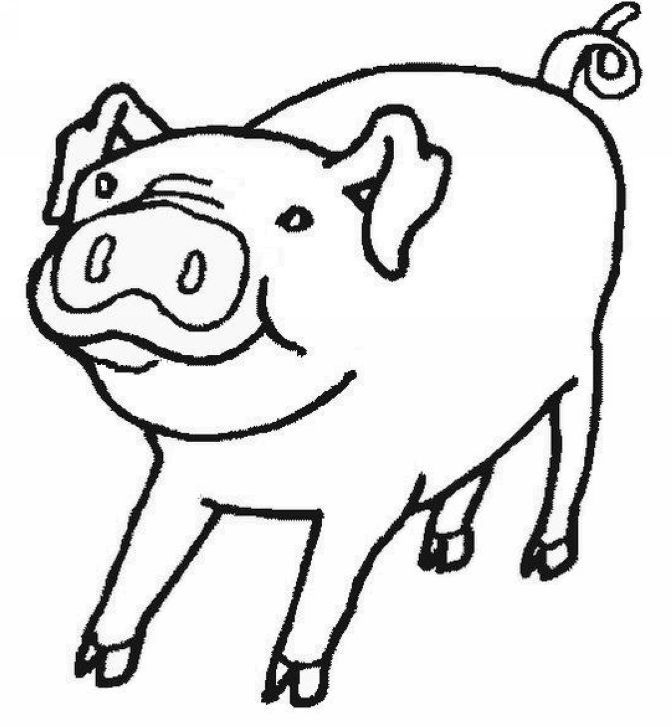 Baby Pig Coloring Pages Coloring Home