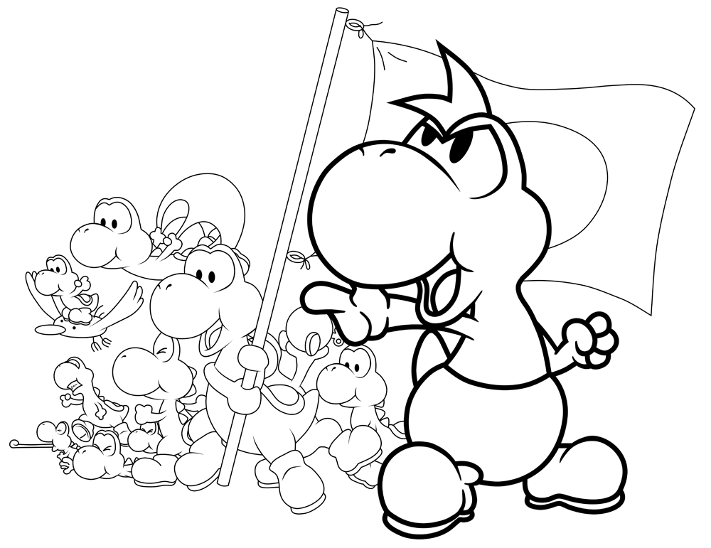 Baby Yoshi Coloring Pages Coloring
