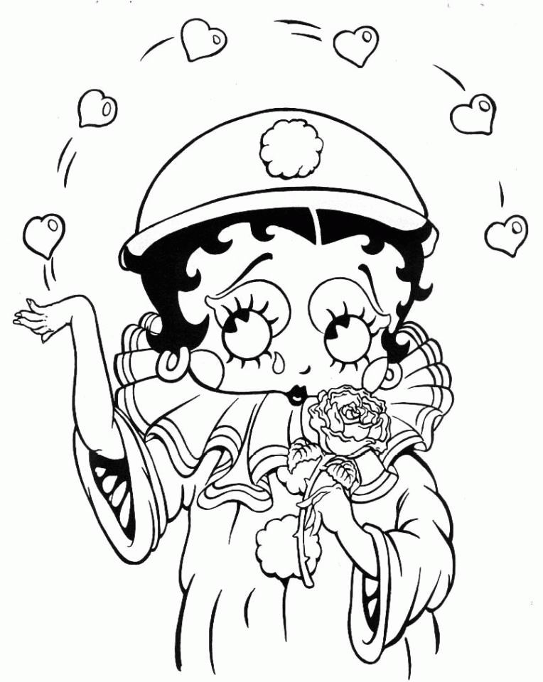 betty bop coloring pages - photo#10