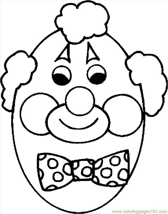 Coloring Pages Egg Clown (Entertainment > Holidays) - free