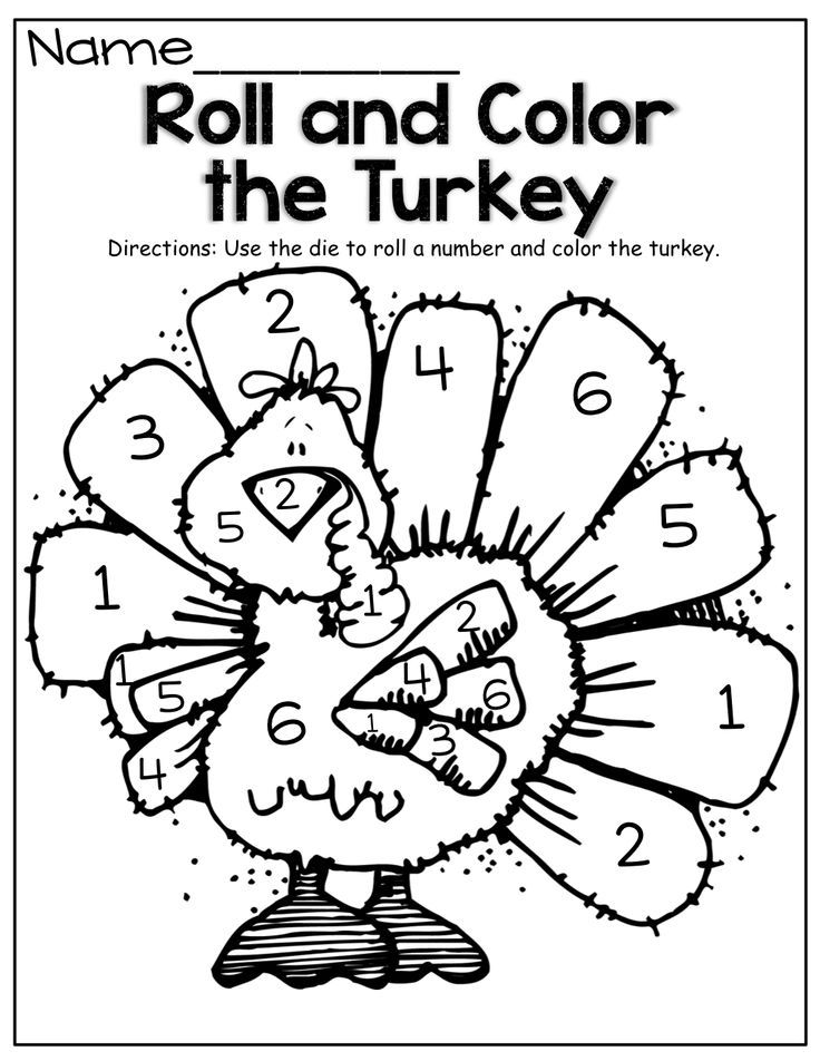 How To Color A Turkey  Coloring Home