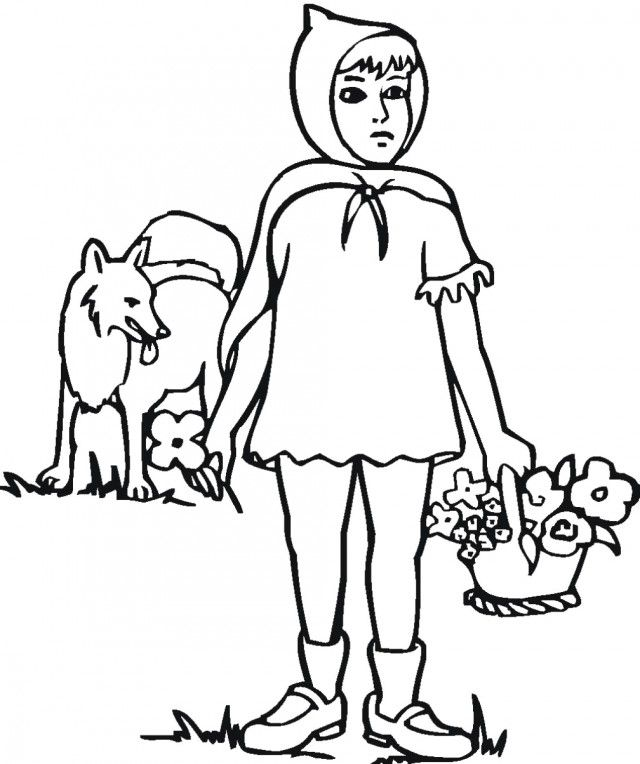 Little Red Riding Hood Coloring Pages To Print Little Red Riding
