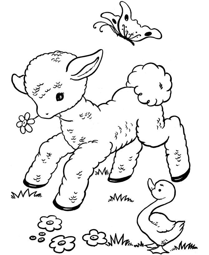 Mary Had A Little Lamb Coloring Pages  Coloring Home