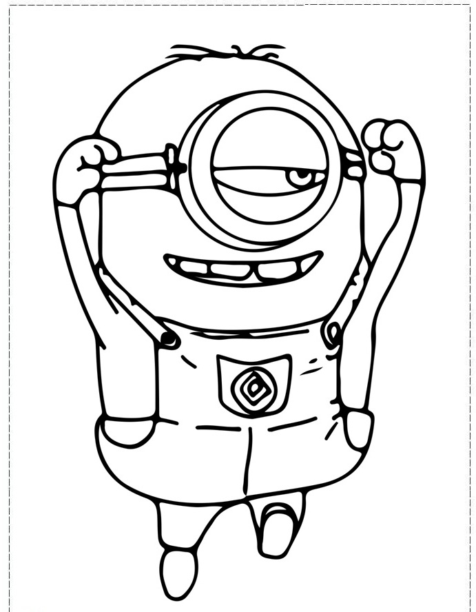 Minion Carl Colouring Pages
