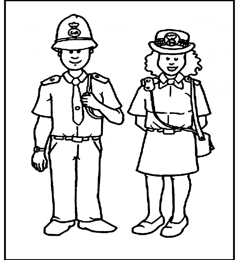 coloring pages of police officer - photo#20