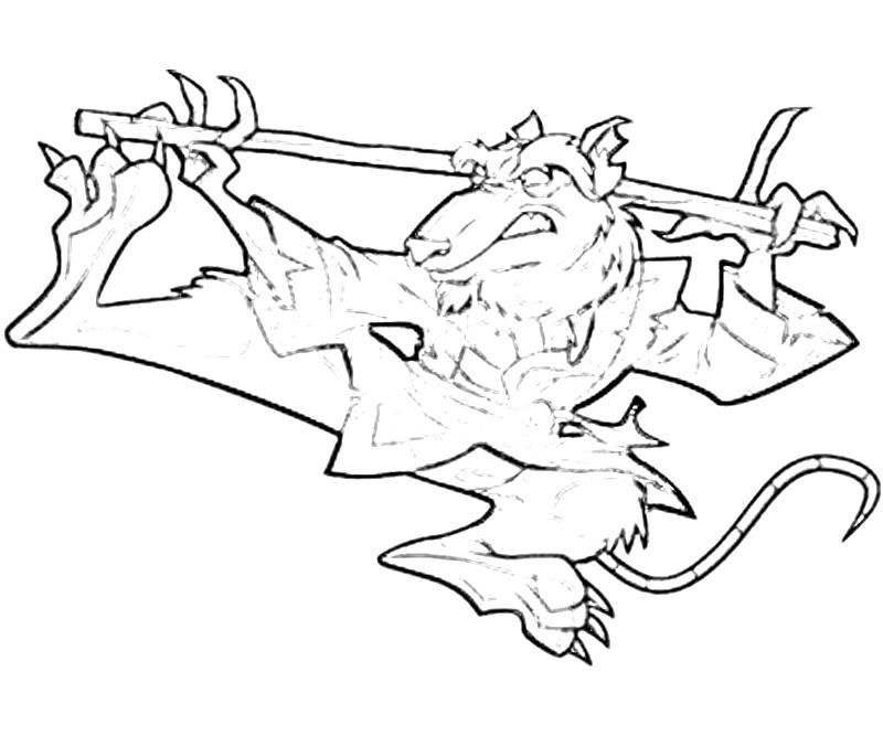 ninja turtle coloring pages splinter - photo #36