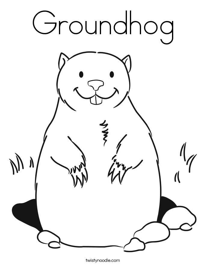 Groundhog Day Printables For Kids Coloring Home Ground Hog Coloring Page